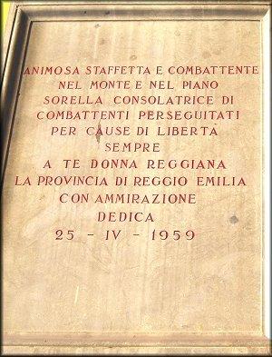 Gedenktafel für die Partisaninnen (Cocconi)
