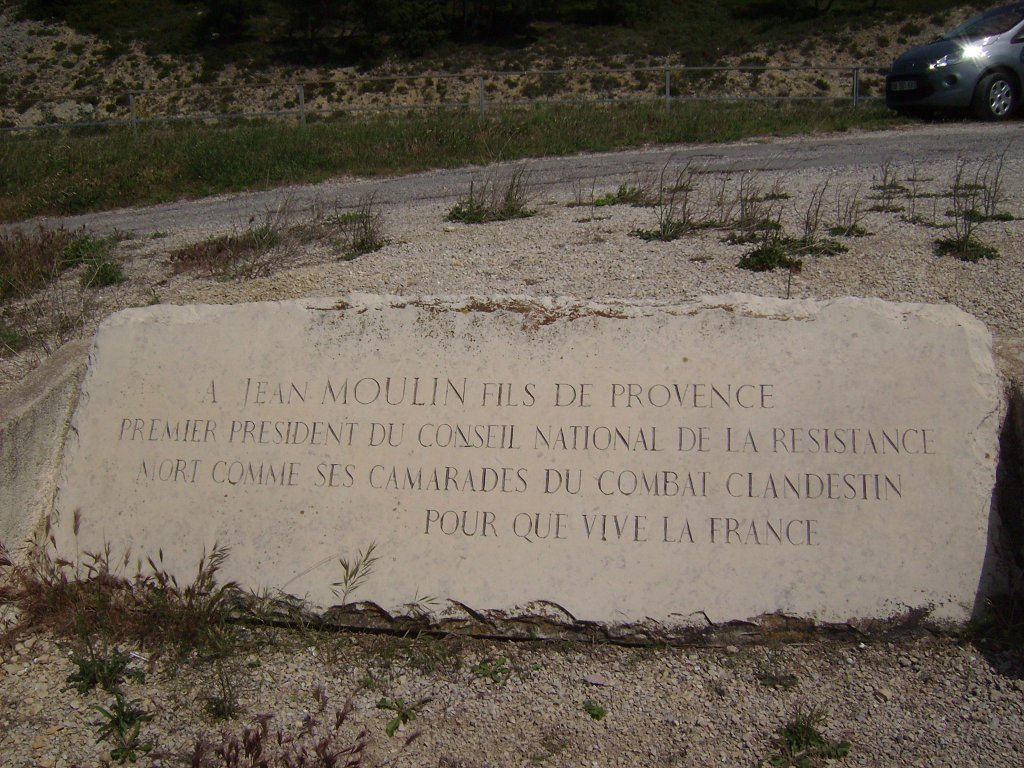 Gedenktafel für Jean Moulin