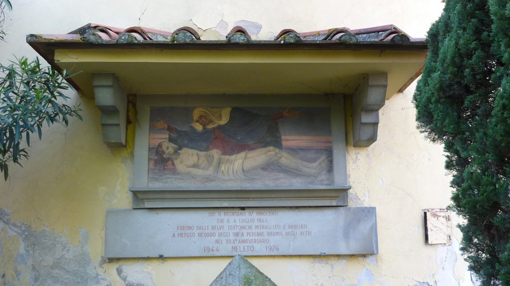 Fresko an der Rückseite der Kirche