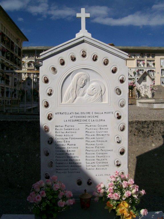 Gedenkstein auf dem Friedhof Meleto (Foto: Zatini)