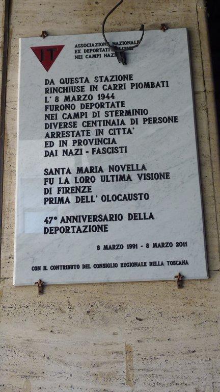 Gedenktafel für Deportierte (Foto: 2012 privat)