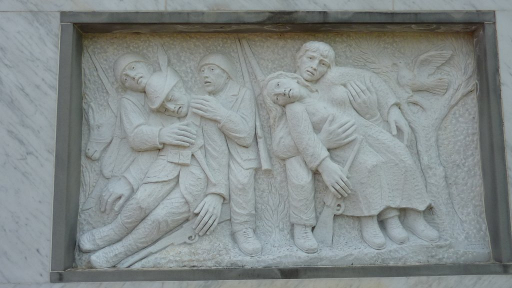 Relief am Denkmal