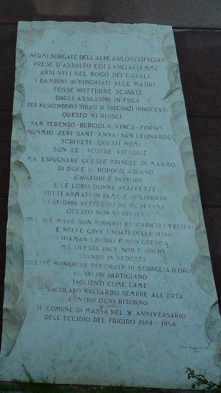 Tafel am Obelisken Via Dorsale