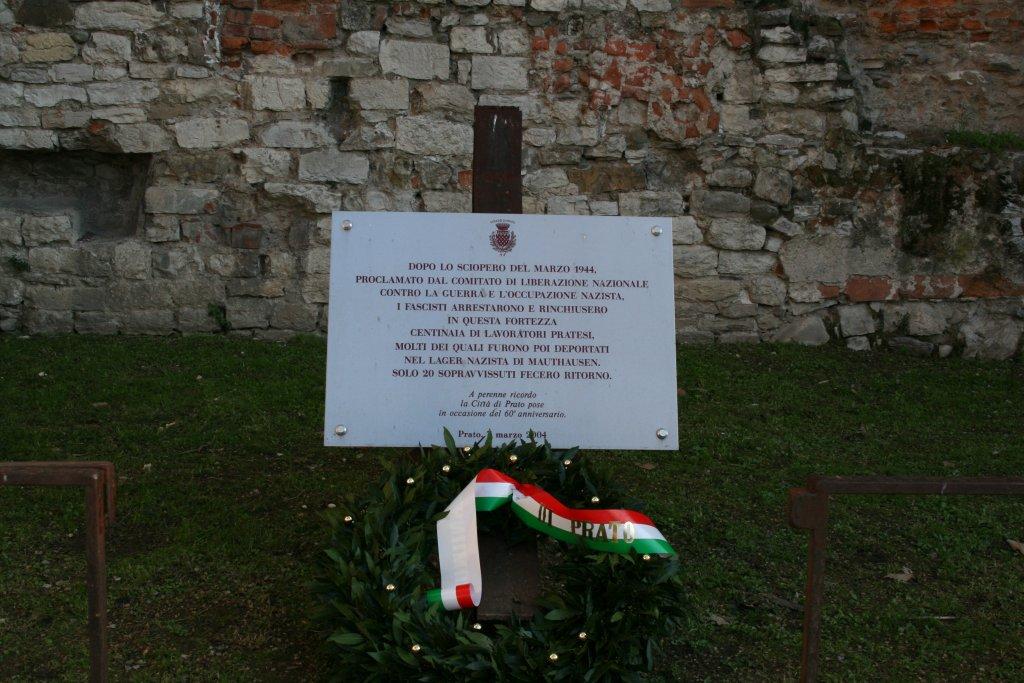 Gedenktafel am ehemaligen Gefängnis (Baldini)