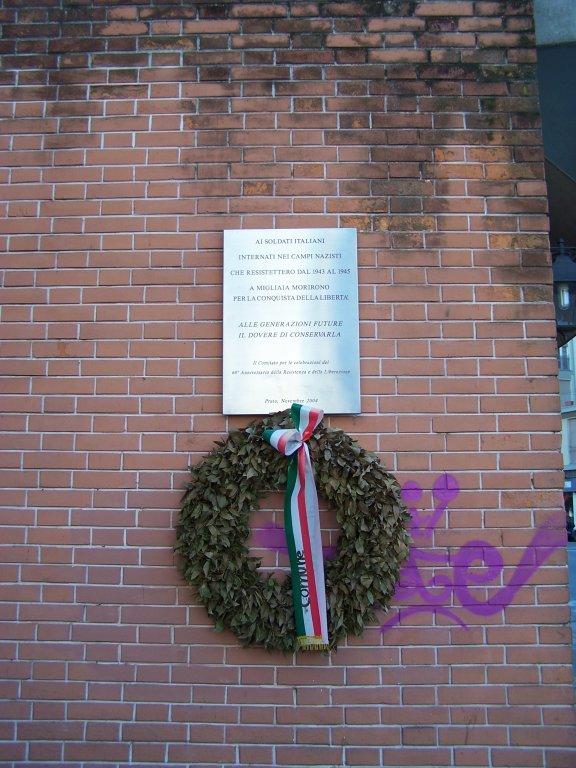 Gedenktafel für die Militärinternierten (Baldini)