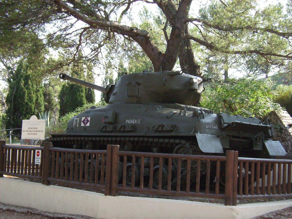 Bei der Befreiung der Provence eingesetzter Panzer