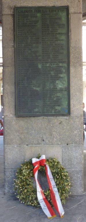 Gedenktafeln im Palazzo della Ragione