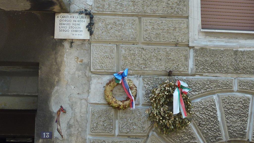 Gedenktafel an der Via d'Azeglio