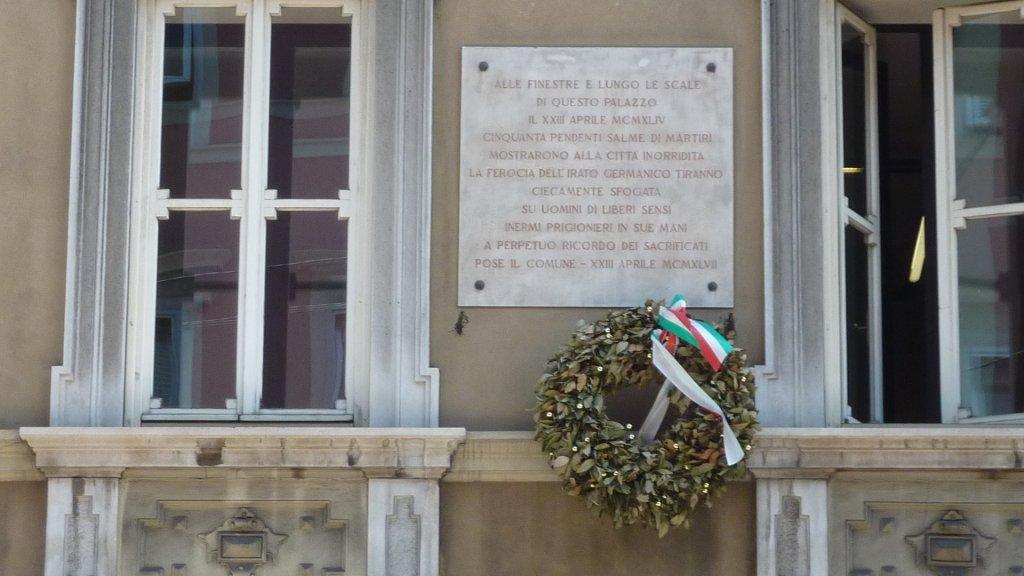 Gedenktafel am Palazzo Rittmeier