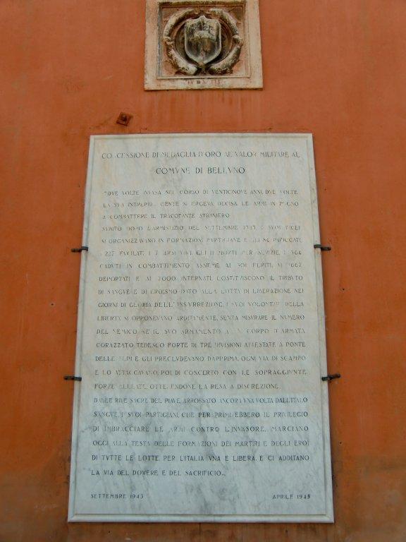 Inschrift der Medaglia d'oro