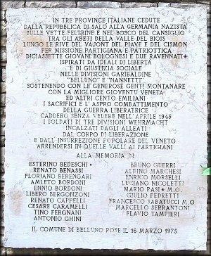 Gedenktafel für Partisanen der Emilia Romagna (Foto: Cocconi)