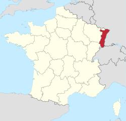 Lage des Elsass; Quelle: Wikimedia Commons