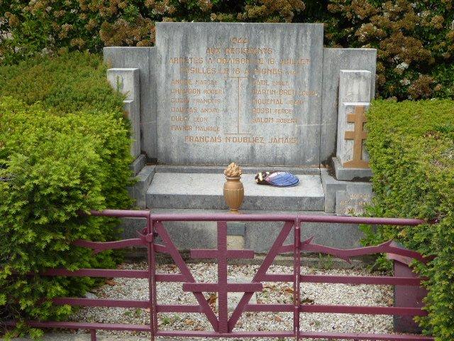 Denkmal der verhafteten und erschossenen Widerstandskämpfer