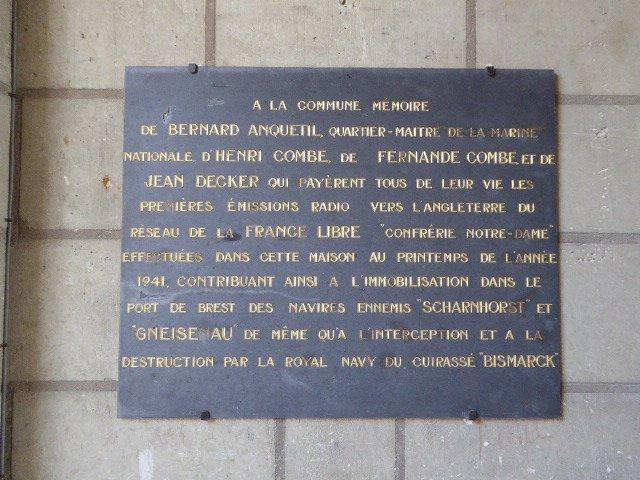 Ehrentafel für vier CND-Résistants