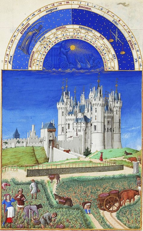 Schloss von Saumur; Stich 15. Jhd.; gemeinfrei