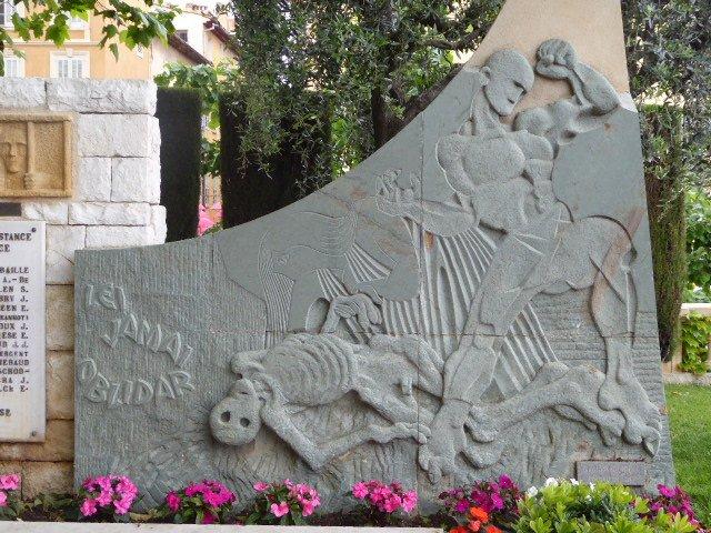 Denkmal Résistance und Deportation - Ausschnitt 'Totentanz'