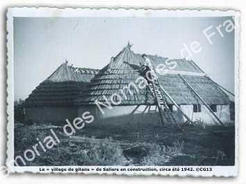 Aufbau des Lagers; © Mémorial des Nomades de France