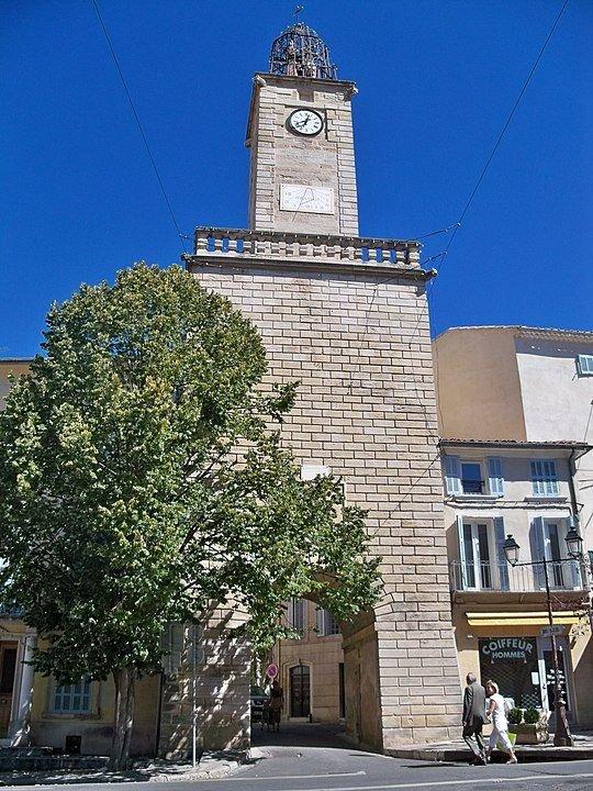 Uhrturm; Quelle: Wikipedia, gemeinfrei: Standort: GPS 43.653833, 5.261778