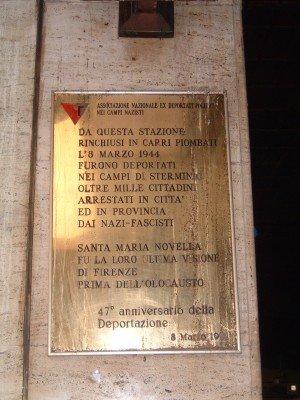 Neuere Tafel für die Deportierten (Foto Baldini)