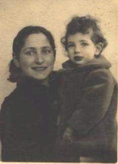 Olga Bancic mit Tochter Dolores; Quelle: maitron-fusillés