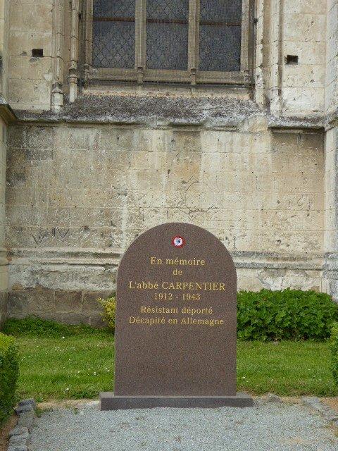 Abbeville - Gedenkstein Abbé P. Carpentier