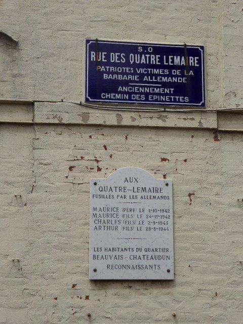 Gedenktafel 'Quatre Lemaire'