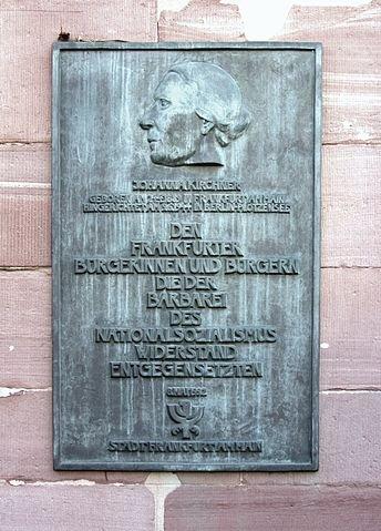 Gedenktafel an der Paulskirche, Frankfurt/M.