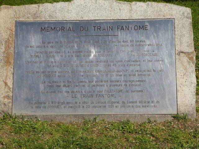 Gedenktafel an Train Fantôme