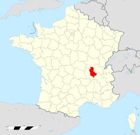 Lage des Departements Rhône