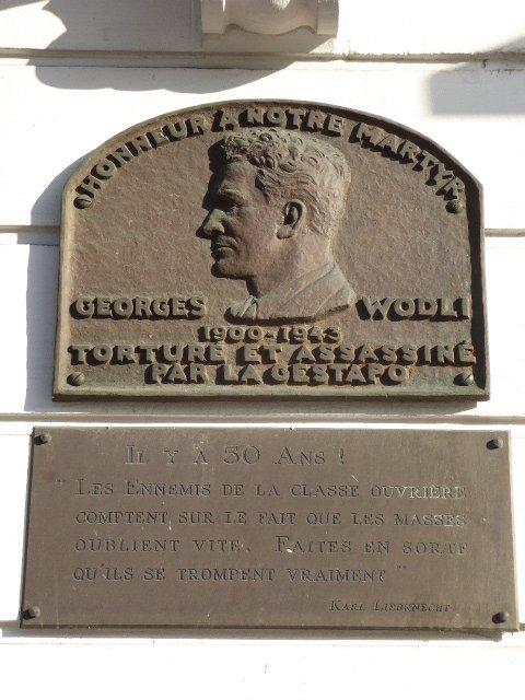 Gedenktafel Georges Wodli