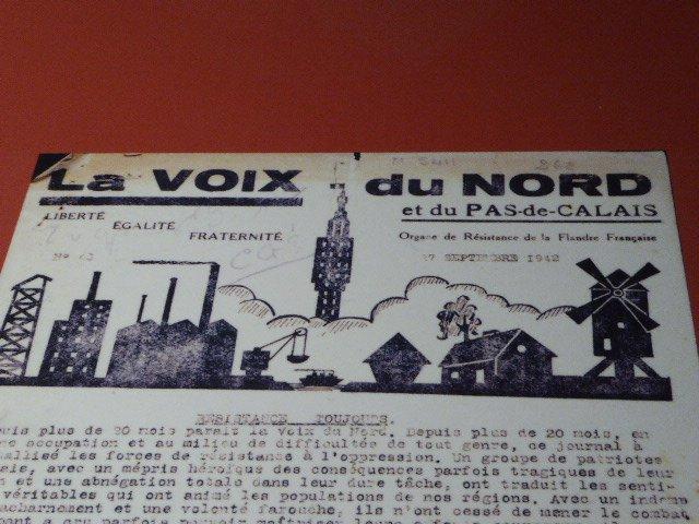La Voix du Nord, Ausgabe 17. September 1942; mit frdl. Genehmigung des Centre d'Histoire La Coupole