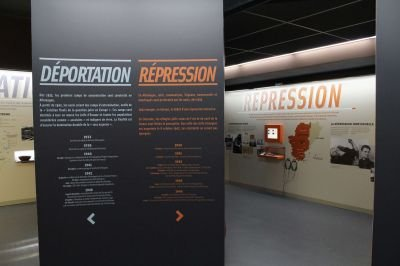 Blick in 'Erinnerungsraum an Résistance'; Quelle: archives16