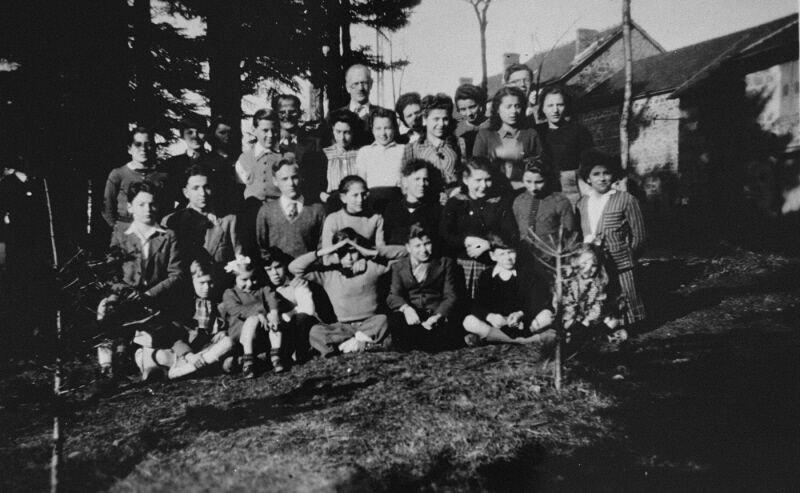 Gruppe von Kindern, 1943 (USHMM)