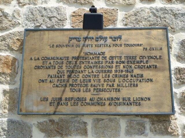 Le Chambon-sur-Lignon, Danktafel