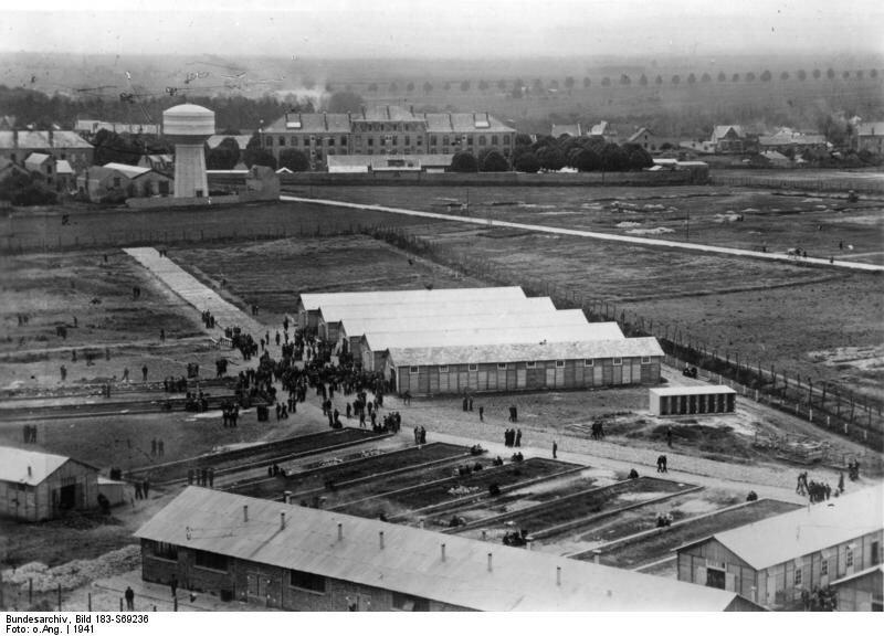 Internierungslager für Juden, Gesamtansicht (1941); Foto: Bundesarchiv, Bild 183-S69236