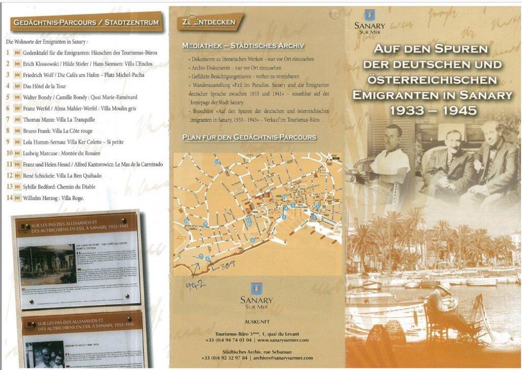 Faltblatt der Gemeinde Sanary
