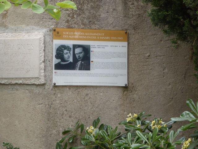 Tafel Alma Mahler-Werfel und Franz Werfel