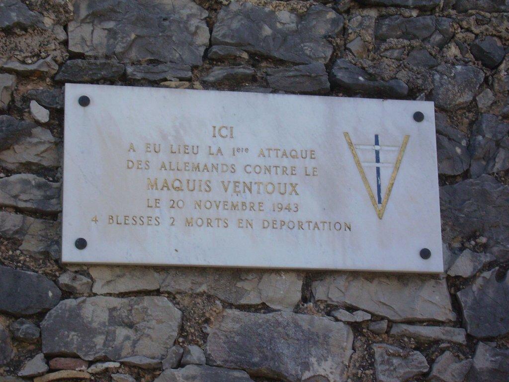 Tafel 'La Bourradière',  1. Angriff auf Maquis Ventoux