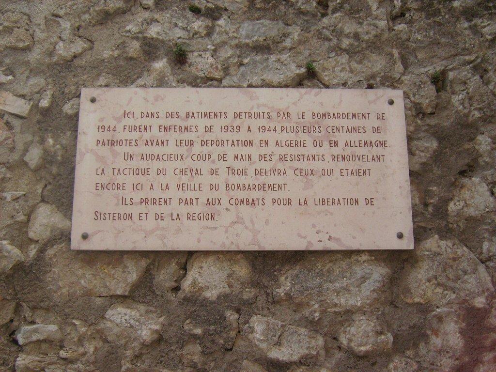 Gedenktafel der Gefangenen und Befreiung, Zitadelle