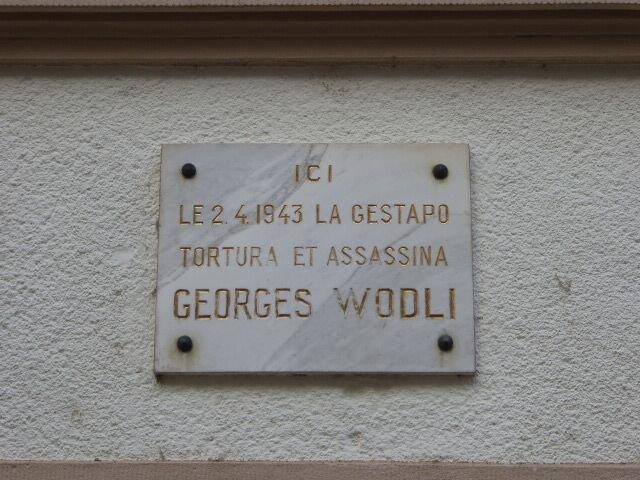 Gedenktafel G. Wodli am ehem. Gestapo-Sitz