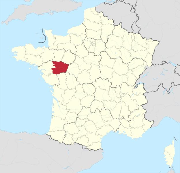 Département Maine-et-Loire; Quelle: Wikimedia Commons