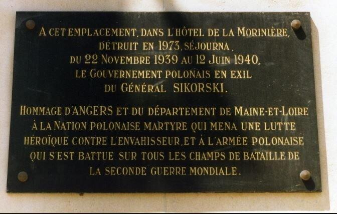 Sitz polnischer Exilregierung/General Sikorski; Quelle: fracademic.com