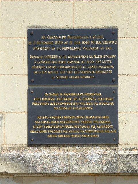 Gedenktafel an polnischen Exilpräsidenten