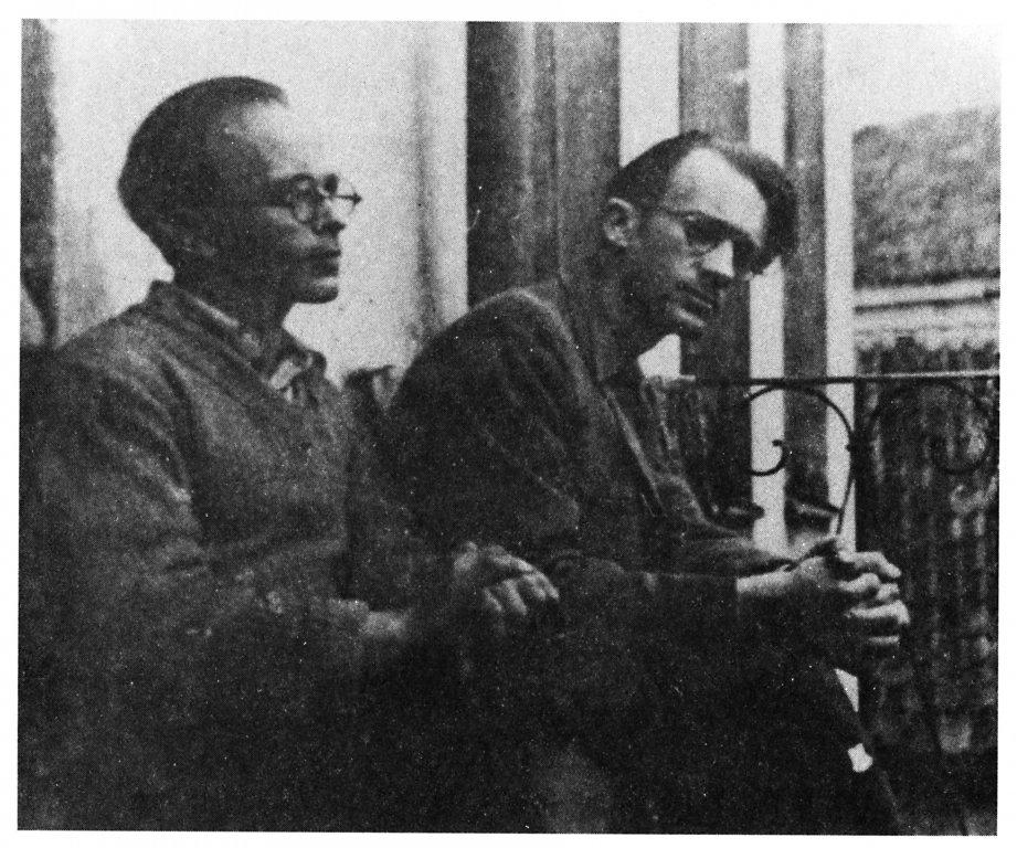 Kaczerginski (l) und Sutzkever im Ghetto 1943 (Foto s. Kruk)