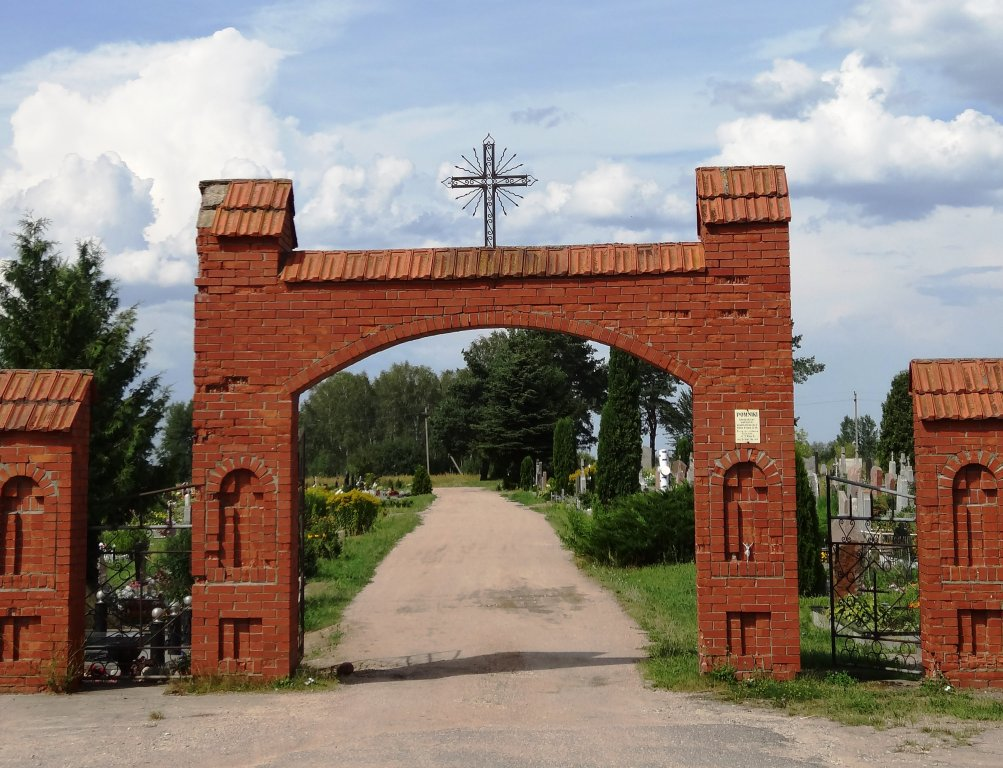 Eingang zum katholischen Friedhof