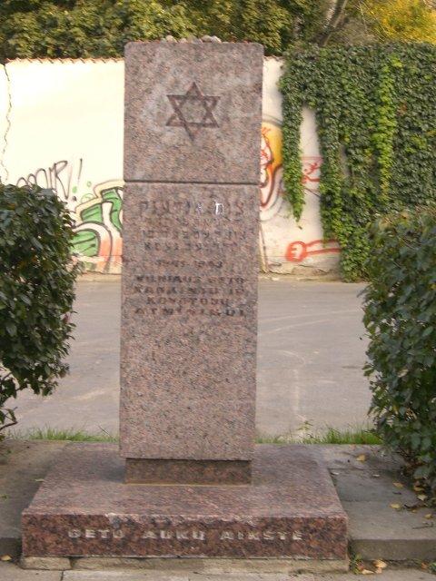 Gedenkstein für die Ghetto-Kämpfer