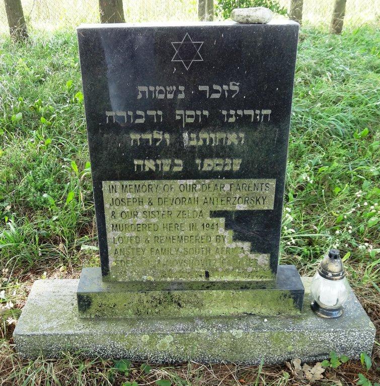 Gedenkstein für die Familie Anterzorsky