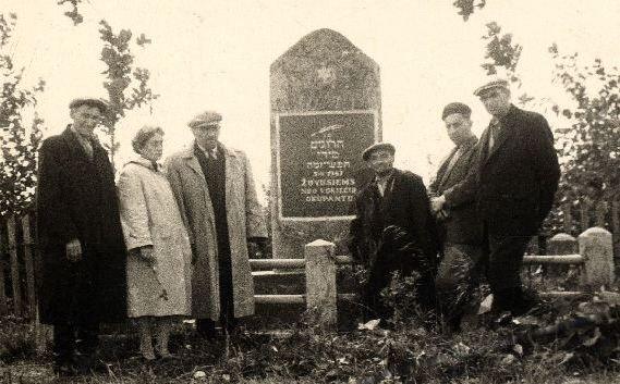 Besuch von Überlebenden ca. 1948 (museumoffamilyhistory)