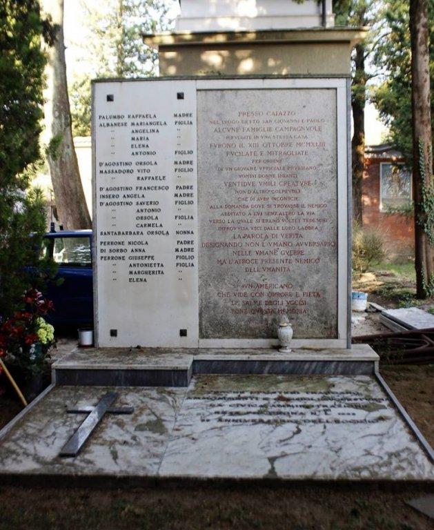 Grabstätte mit Inschrift Benedetto Croces (Foto: telesianarrando)