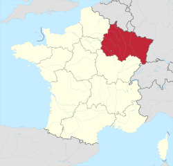 Lage der Region Grand-Est; Quelle: Wikimedia Commons
